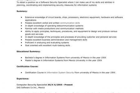 Protection Specialist Resume - Reentrycorps