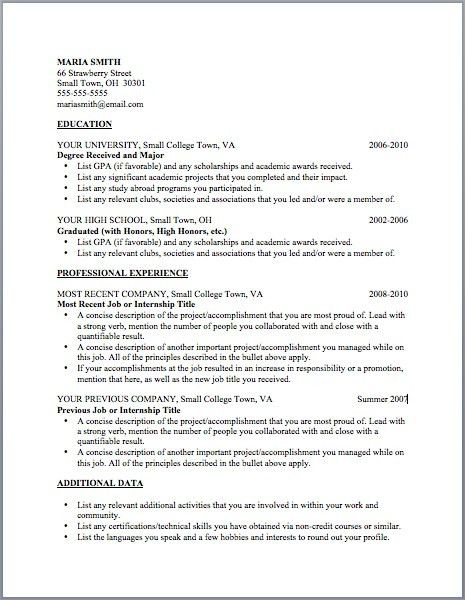 Job Resume Template | jennywashere.com