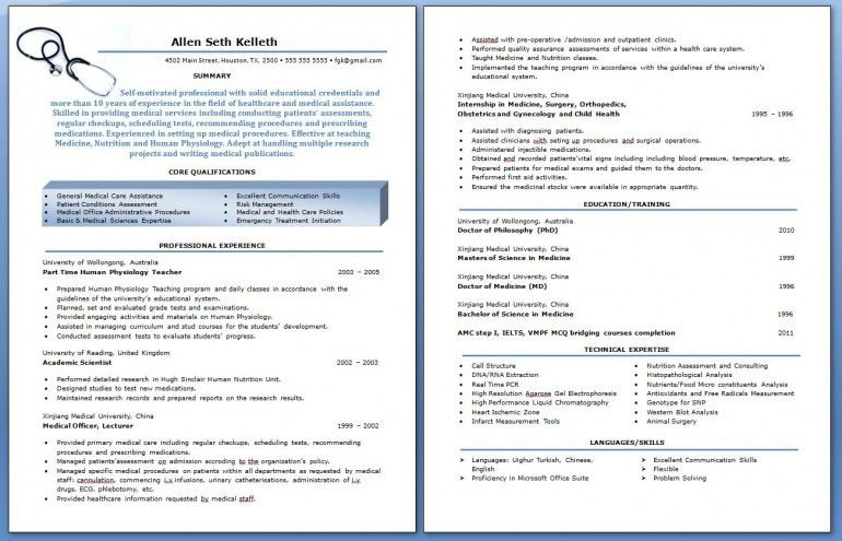 Resume Examples. Amazing top 10 best professional resume templates ...