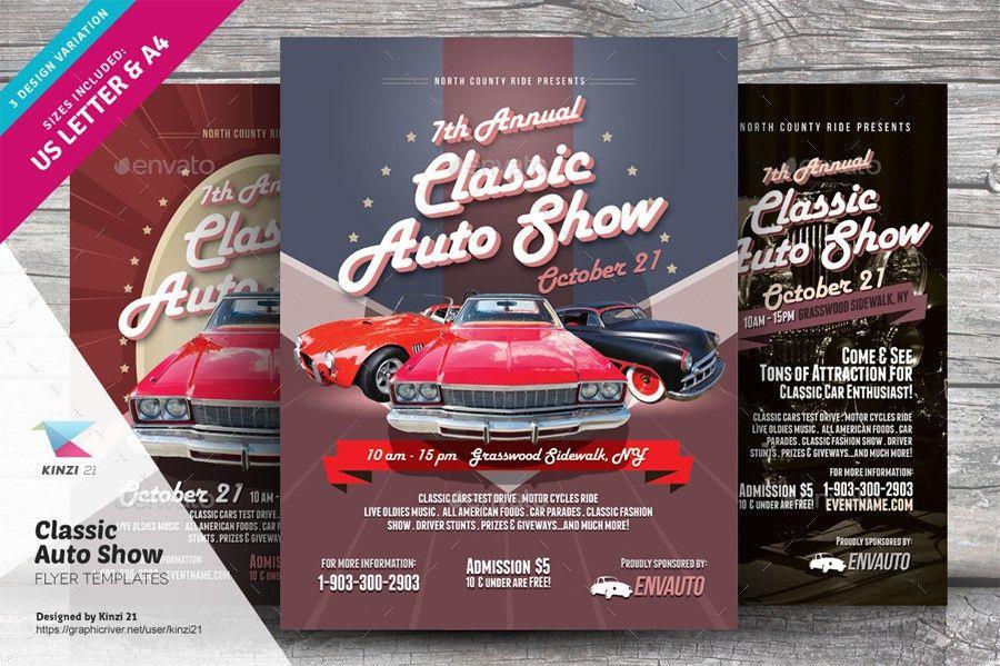 Classic Auto Show Flyers by kinzi21 | GraphicRiver