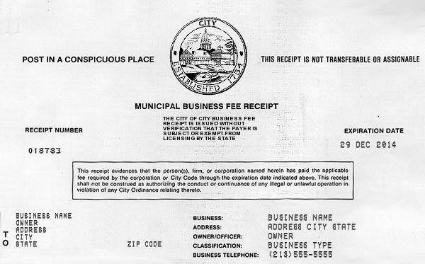 Free Online Receipt Maker - Fake Business License - Fake Receipt.us