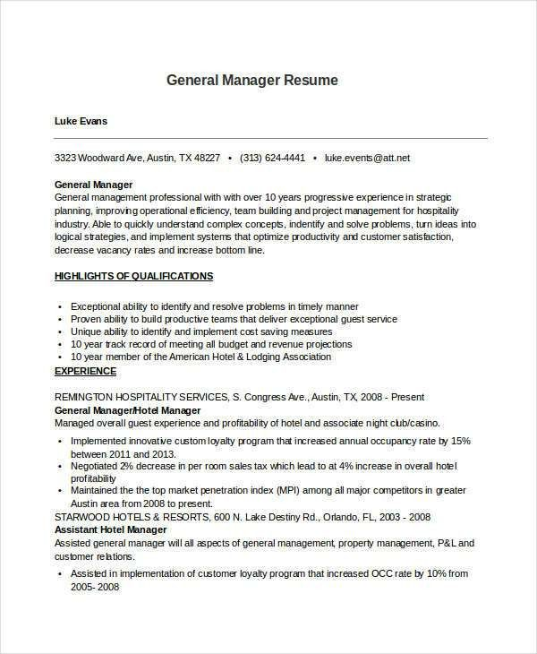 31 Resume Format- Free Word, PDF Documents Download   Free ...