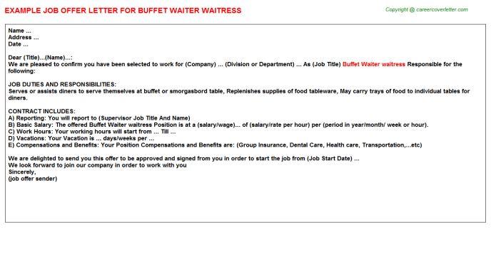 template cover letter resume sample waiter fair sample resume for ...