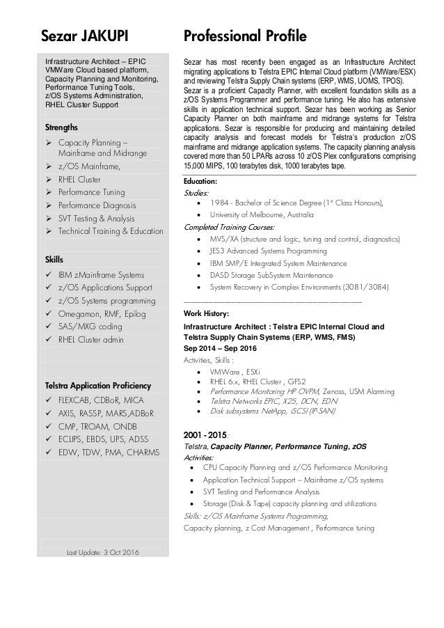 Sezar Jakupi CV Resume Sep 2016 Telstra