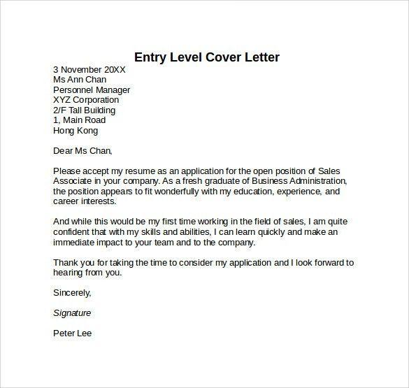 entry level rn cover letter