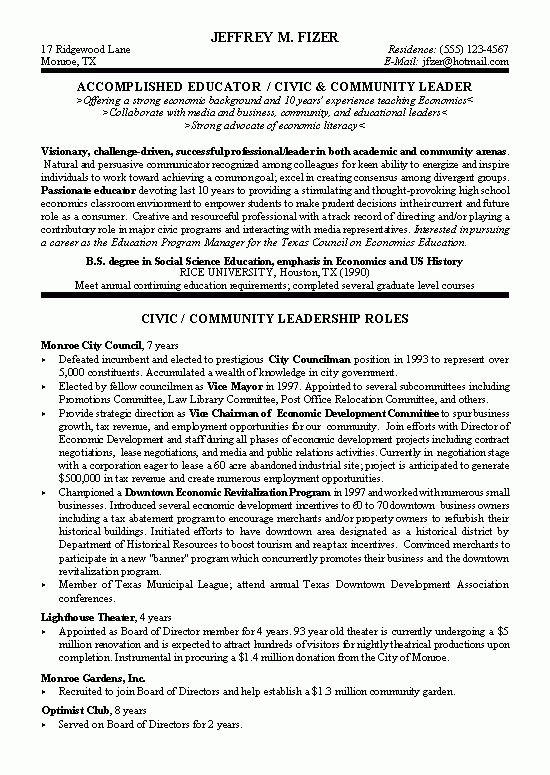 choose. civic leader political resume example sample legal resume ...