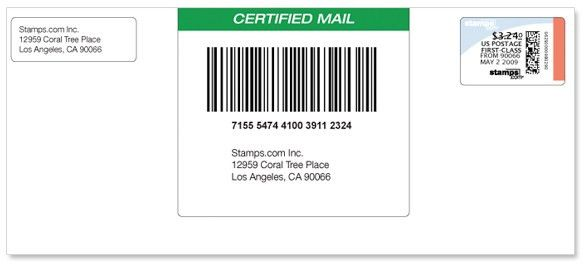 Help: Certified Mail With Receipt (SDC-3710) | Stamps.com