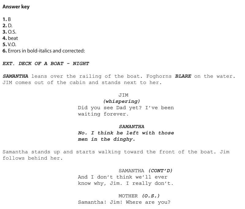 Writing a screenplay - Mensa for Kids