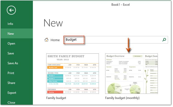 How to make a monthly budget template in Excel?