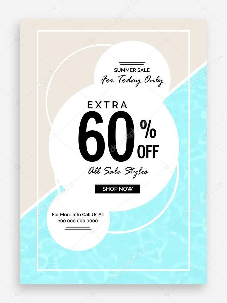Summer Sale Poster, Banner or Flyer design. — Stock Vector ...
