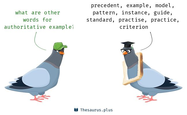 Terms Authoritative example and Antecedent have similar meaning