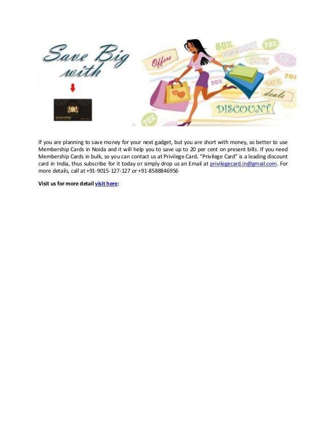Get Online Free Membership Cards in India - Privilege Card