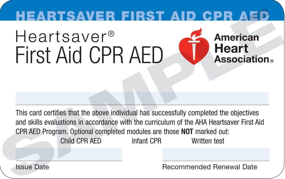 First Aid Certificate Template - Contegri.com