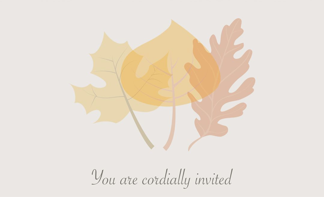 Pages Autumn Wedding Invitation Template | Free iWork Templates