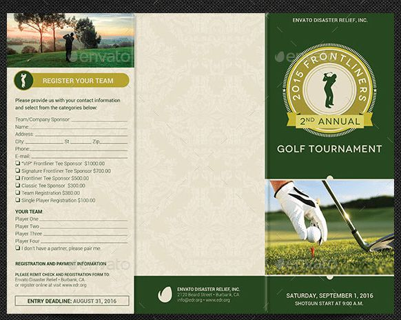 10 Popular Free and Premium Golf Brochure Templates & Designs to ...