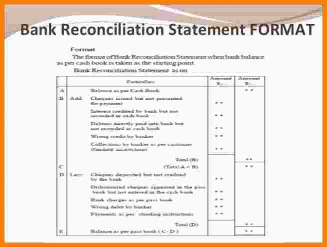 5+ bank reconciliation statement format | Statement Information