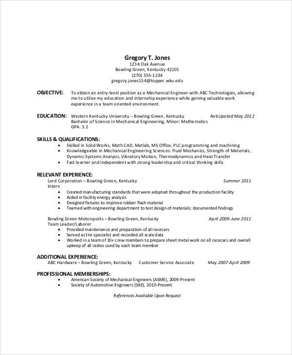 Download General Resume Objective | haadyaooverbayresort.com