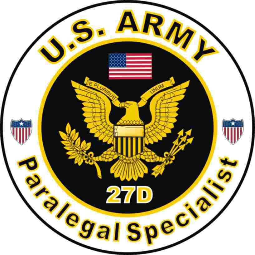 Army MOS 27D Decal: Paralegal Specialist