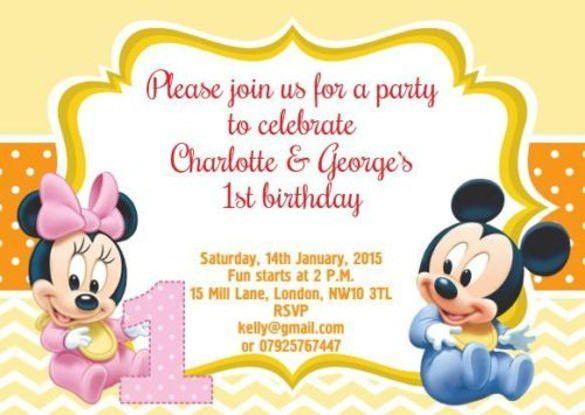 Baby Mickey Invitation Template – orderecigsjuice.info