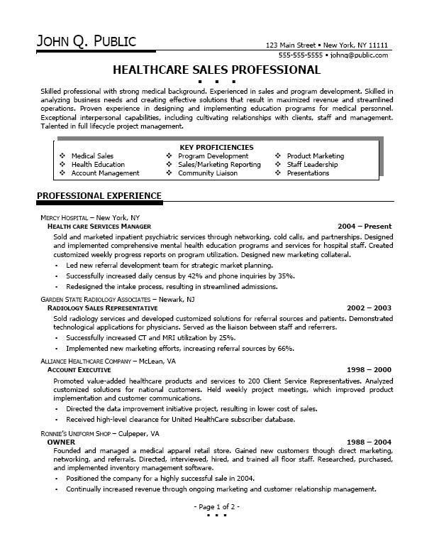 Medical Resume Templates. A Professional Resume Template For A ...