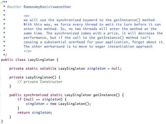 Singleton Pattern (Eager, Lazy, Enum) | Ramasamy Kasiviswanathan ...