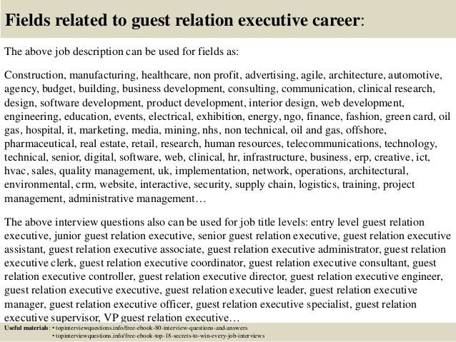 Top 10 guest relation executive interview questions and answers