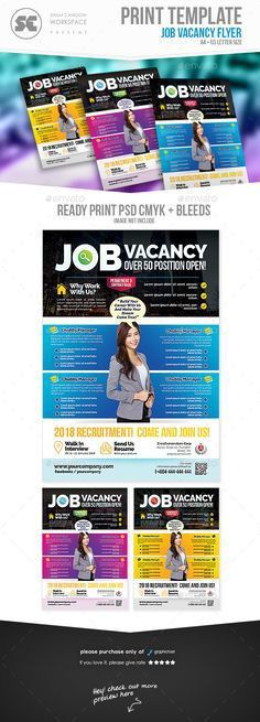 Job Vacancy Flyer | Flyer template, Psd templates and Logos