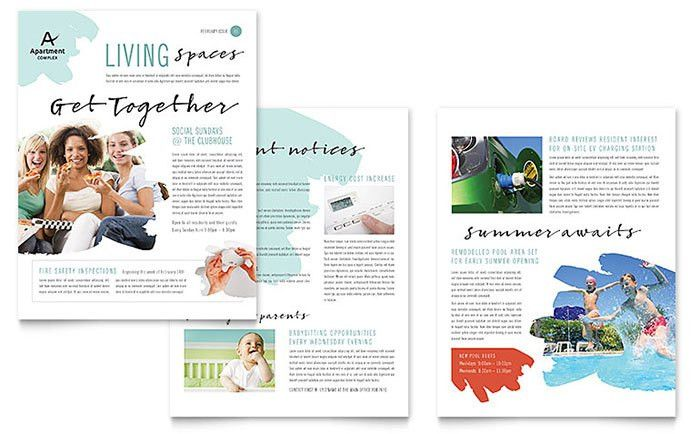 Apartment Newsletter Template Design by StockLayouts   Newsletter ...