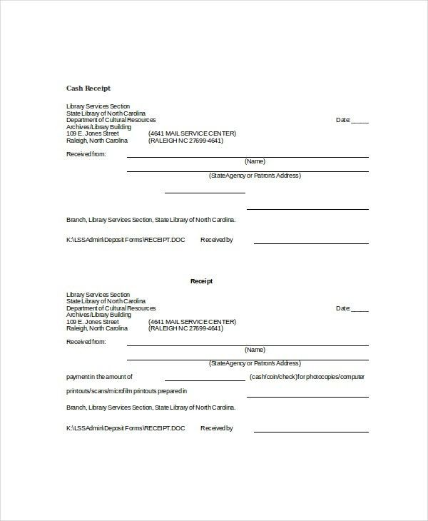 Word Receipt Template - 7+ Free Word Documents Download | Free ...