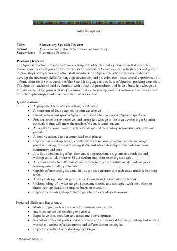 Job Title: Religious Education Teacher Job Description ...