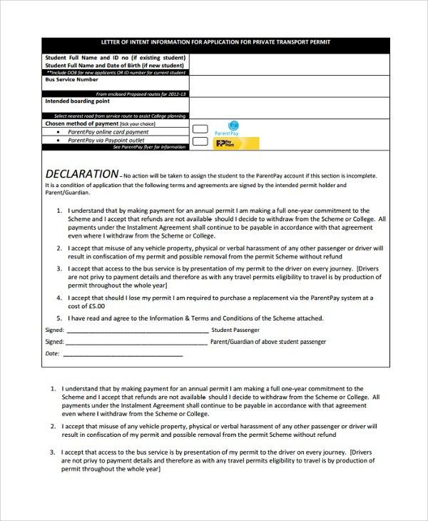 Sample Letter of Intent Contract - 8+ Documents in PDF, WORD