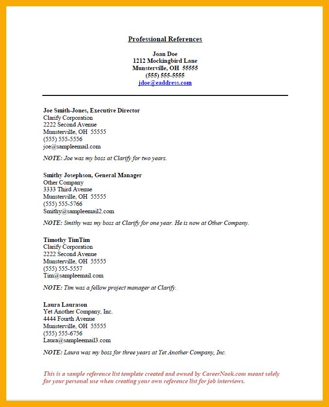 5+ Professional Reference Template | Data Analyst Resumes