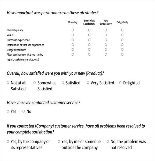 10+ Survey Questions Templates – Free Sample, Example, Format ...