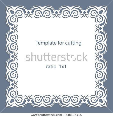 Greeting Card Openwork Border Paper Doily Stock Vector 628794698 ...