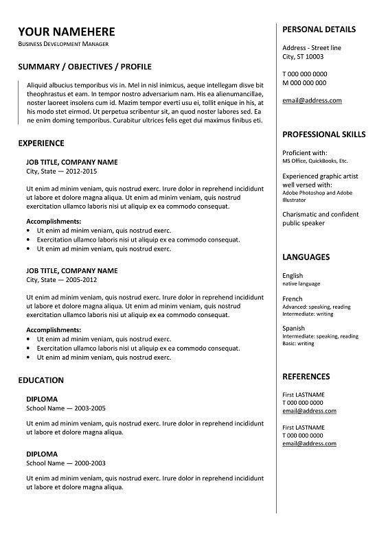 10 best Resume / CV for PowerPoint images on Pinterest | Cv ...