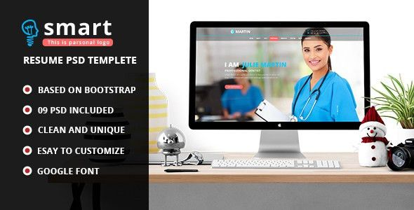 Smart - Personal Profile PSD Template by decentthemes | ThemeForest