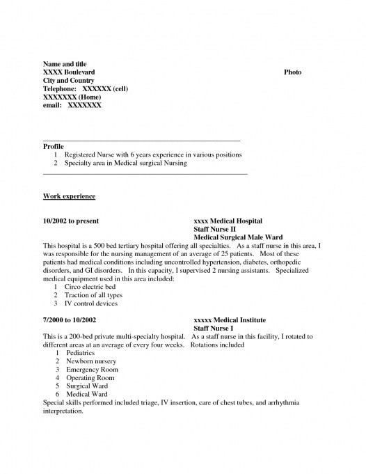 registered nurse resume medical surgical sample resume of med ...