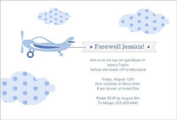 Farewell Party Invite | Going Away Invitations