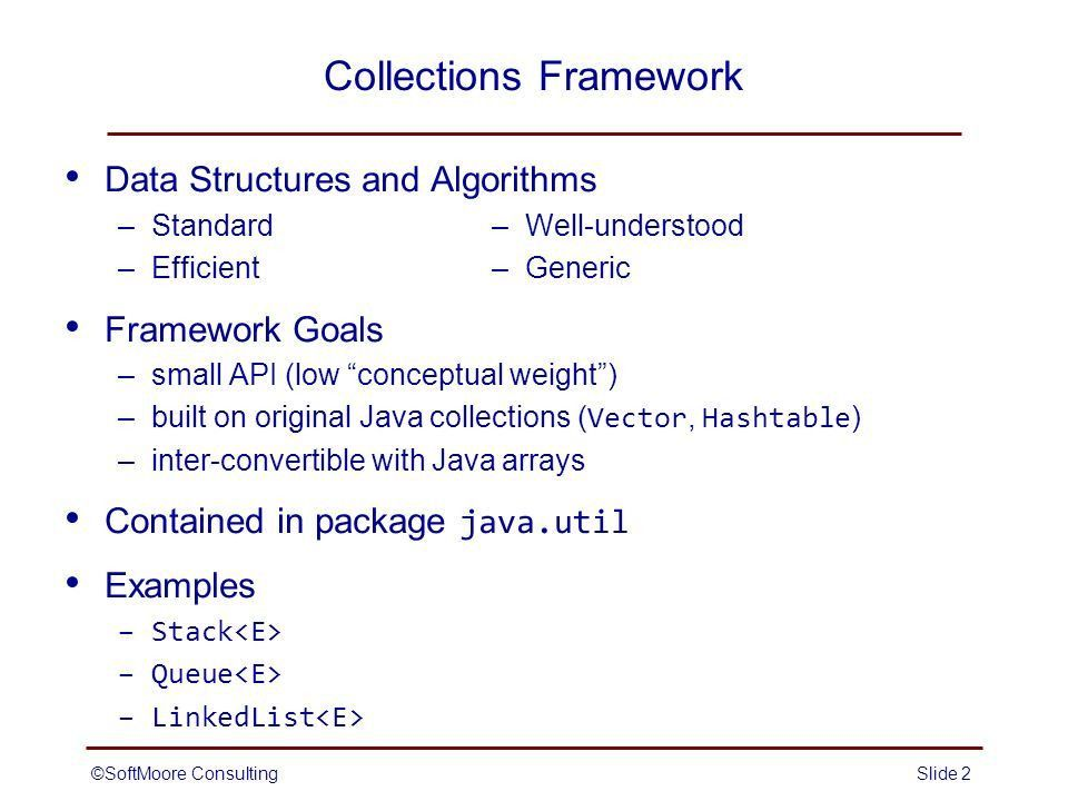 SoftMoore ConsultingSlide 1 Java Collections Framework. - ppt download
