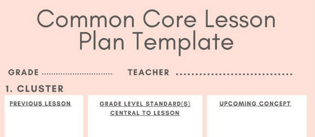 5 Downloadable Math Lesson Plan Templates For Small Group - LogicRoots