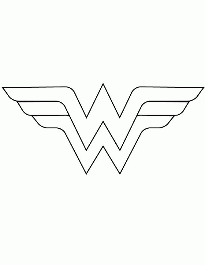 Wonder Woman Logo Template Cut Out Coloring Page | holiday/party ...