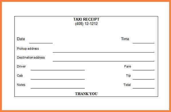 6+ indian taxi bill format in word | Letter Bills