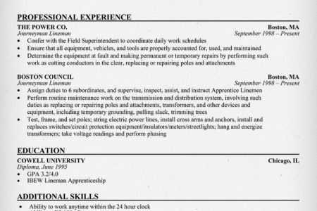Electrician Resume Example Construction Sample Resumes ...