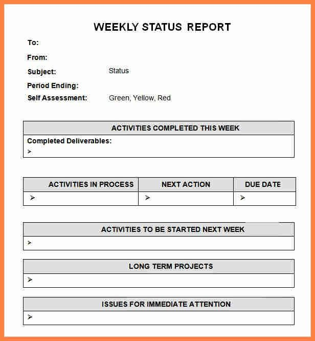 8+ weekly update template | Invoice Example 2017