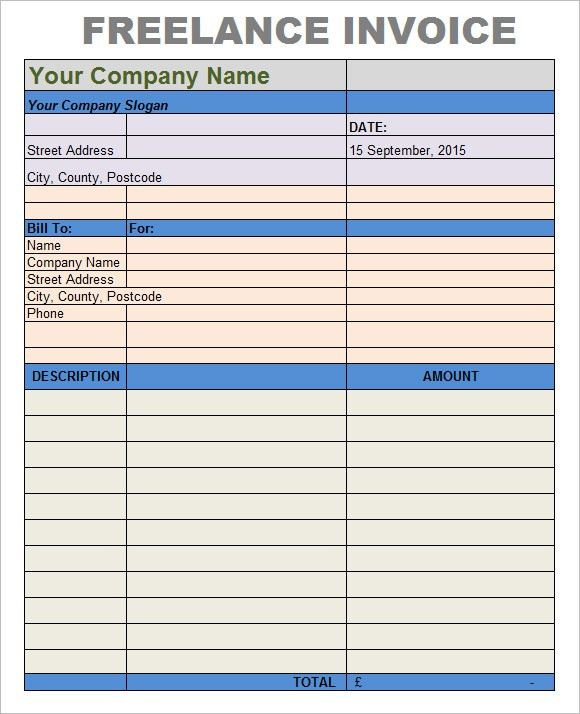 Freelance Invoice Template – 7+ Free Samples, Examples, Format