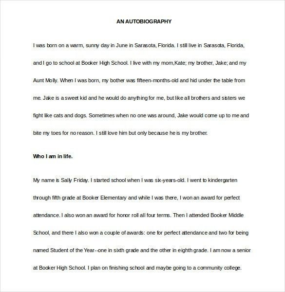 Biography Template - 20+ Free Word, PDF Documents Download | Free ...