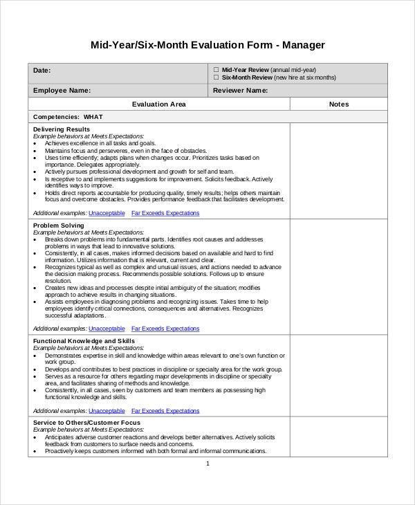 Employee Review Templates - 10+ Free PDF Documents Download   Free ...