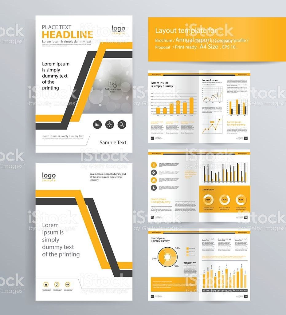 Page Layout For Company Profile Annual Report And Brochure Layout ...