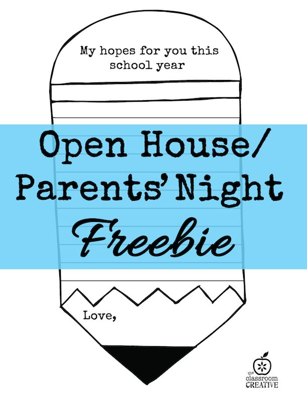 Open House and Parents' Night Ideas