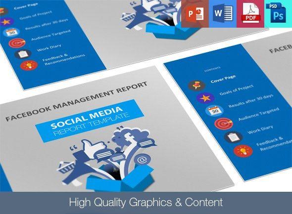 Social Media Report Template | 246 Designs